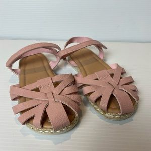 Girls size 12 pink Target Sandals hook and eye
